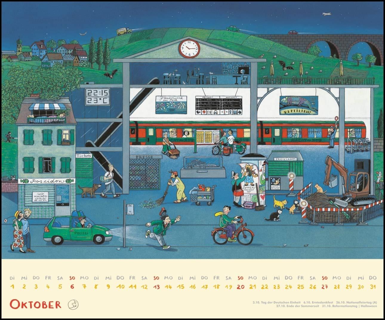 Drei Zimmer Küche Proviant : Wimmel kalender 2019 u2013 dumont kinderkalender u2013 wandkalender 58 4 x
