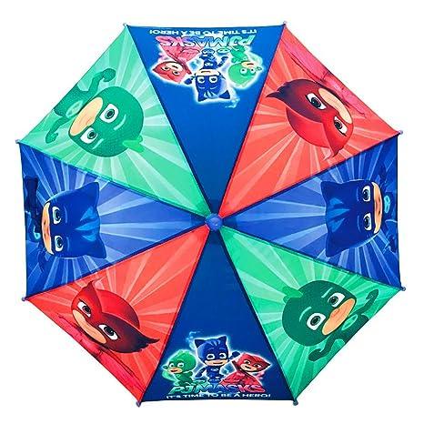 Paraguas Adorable para Niños, Paraguas PJ Máscaras, Paraguas Disney, con Licencia Oficial
