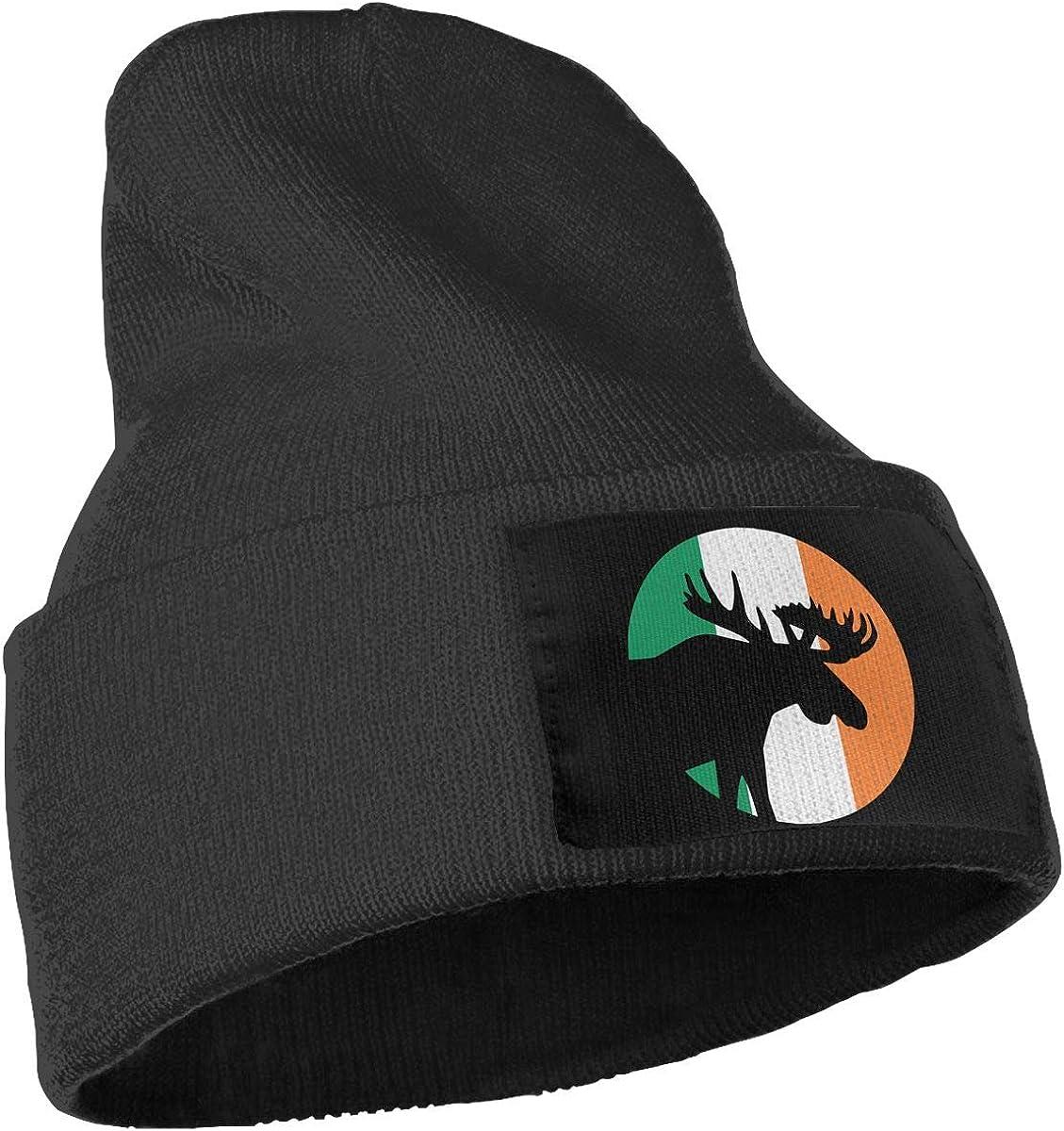 Irish Flag Moose Moon Skull Cap Men /& Women Knit Hats Stretchy /& Soft Beanie