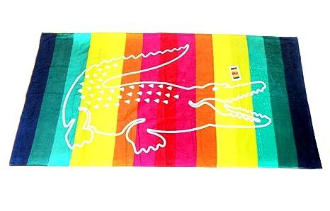 LACOSTE grande con toalla de playa (180 x 92 cm) nuevo con etiquetas