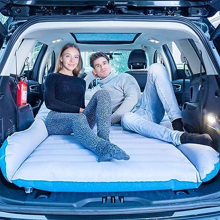 QISE SUV Colchón de Aire para Coche Colchón de Camping móvil Colchón de Coche de Doble Cara Flocado con Bomba para colchón de Coche Cama Inflable Cama de Aire para Viajes, Acampar