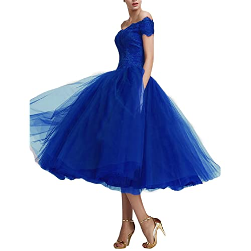Fnina Womenss Tea Length Tulle Prom Dresses Formal Gowns F422