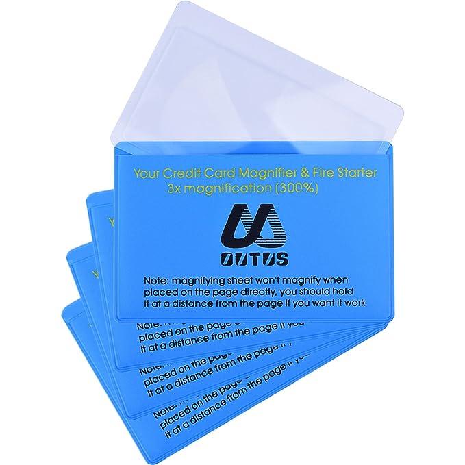 4 Paquetes Lentes de Lupa de Lectura de Plástico Lentes de Bolsillo de Cartera de Lupa de Tamaño Tarjeta Crédito Iniciador de Fuego (Lente de Lupa de ...