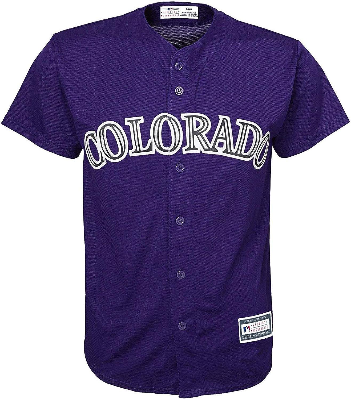 Colorado Rockies Blank Purple Kids Cool Base Home Replica Jersey