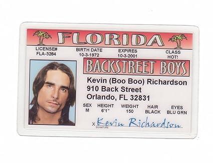 Kevin Richardson Novelty Drivers License / Fake Id Identification for  Backstreet Boys Fans
