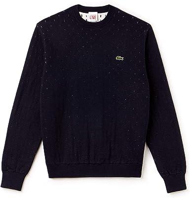 Lacoste L!VE Ah9141 Suéter, Azul (Bleu Des), XX-Large para Hombre ...