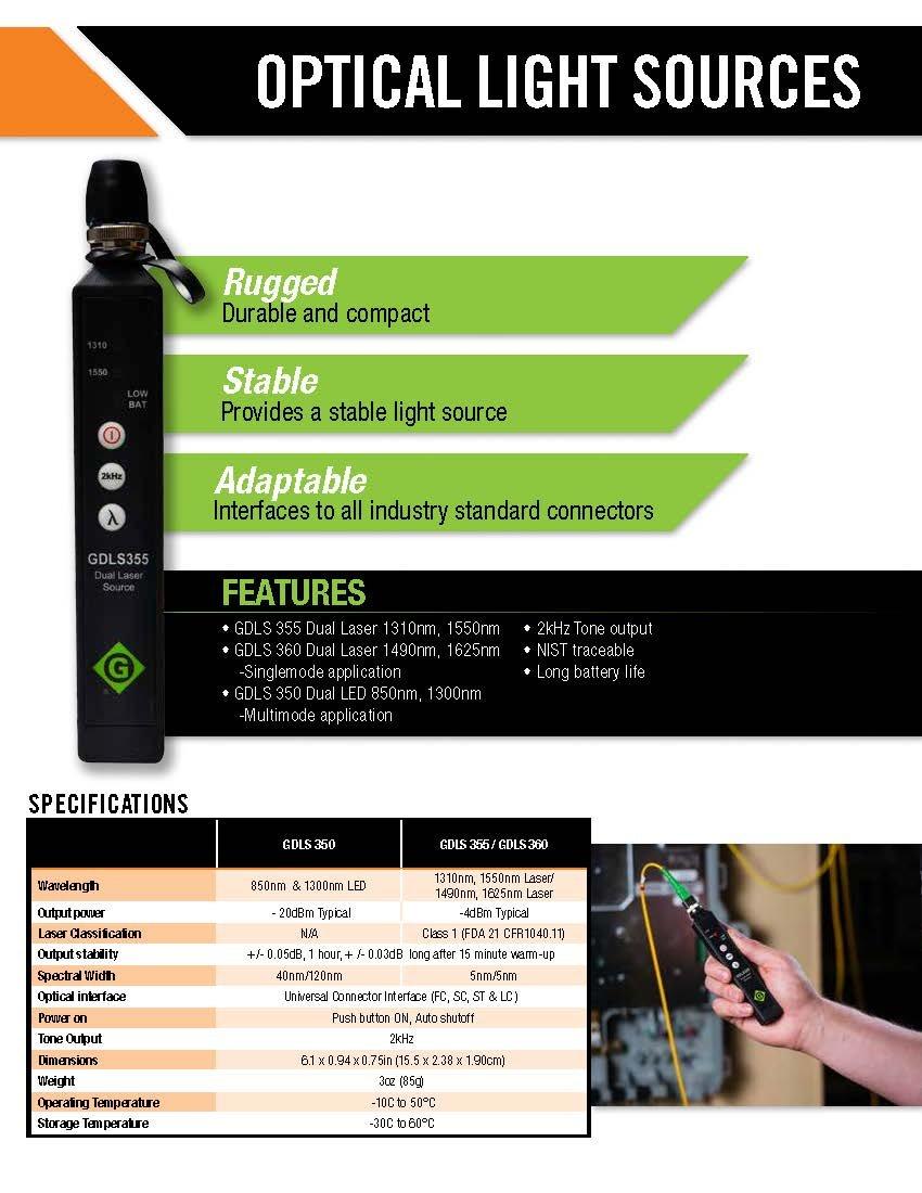 Greenlee GRP 460-04 Fiber Tools Optical Power Meter with InGaAs Filtered Detector by Greenlee (Image #6)