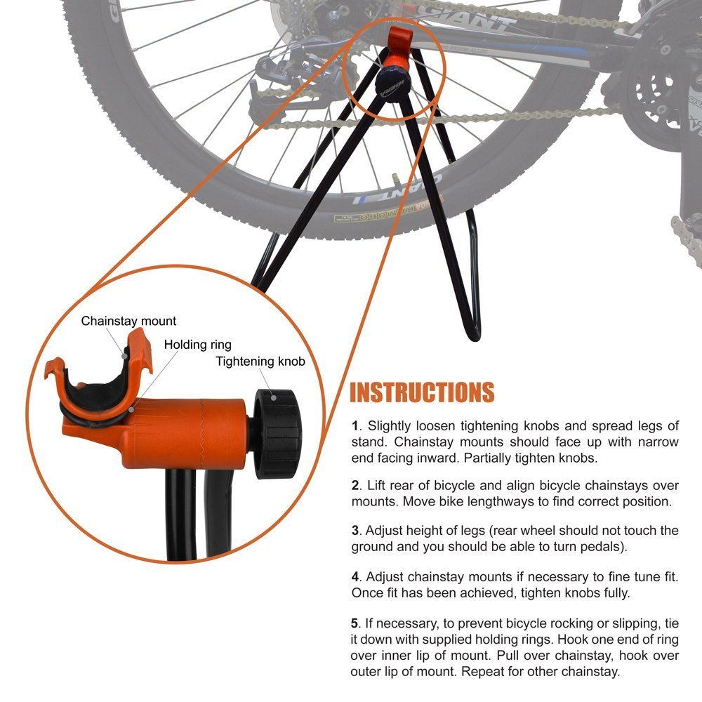 YOSPOSS-soporte plegable para bicicleta, soporte de reparación mecánico para bicicleta, soporte de exhibición para exterior inclinado desigual carretera: ...