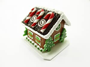 Dollhouse Miniature Clay Gingerbread House Candy Sweet Food Christmas A 13778