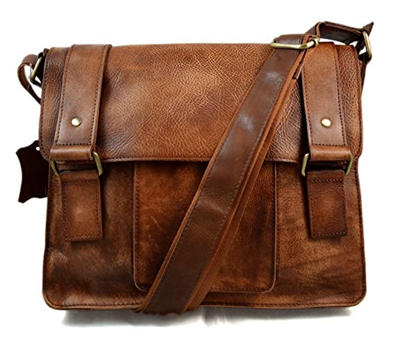 ca965e38a37 Cartera de cuero bandolera de piel marrón bolso vintage espalda hombre mujer  de piel bolso messenger