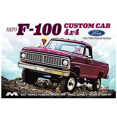 Moebius Models 1/25 1970 Ford F-100 Custom Cab 4x4, MOE1230: Toys & Games