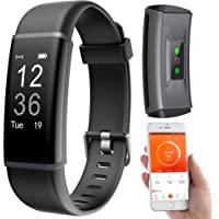 PEARL Fitnessarmband: Fitness-Armband, GPS-Streckenverlauf, Puls, 13 Sportarten, App, IP67 (Pulsuhr ohne Brustgurt)