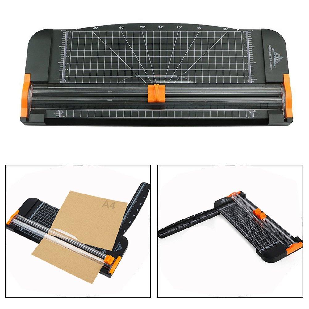 Itian Papier Trimmer A4 Titan Scrapbooking mit Finger Schutz und Slide Lineal Design(schwarz )für Standard Schneiden von Papier,Fotos