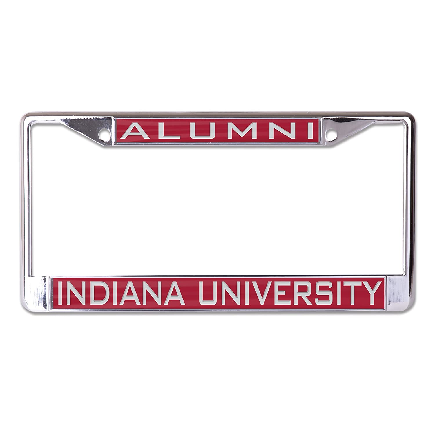 Wincraft NCAA Indiana Hoosiers Alumni Inlaid Metal License Plate Frame 2-Tag Corners