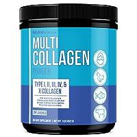 MAV Nutrition Multi Collagen Powder, Blend of Grass-Fed Beef, Chicken, & Fish Peptides, Unflavored, 16oz