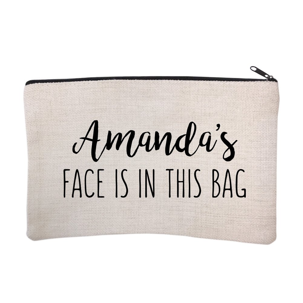 Personalized Face is in This Bag Cosmetic and Makeup Bag