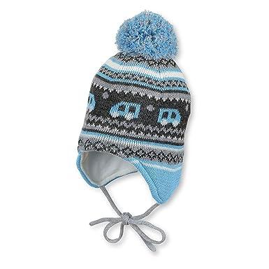 Sterntaler - Baby Jungen Mütze Strickmütze zum binden mit Ohrenschutz und  Bommel, gefüttert von Sterntaler, türkis - 4701756  Amazon.de  Bekleidung bb428159875