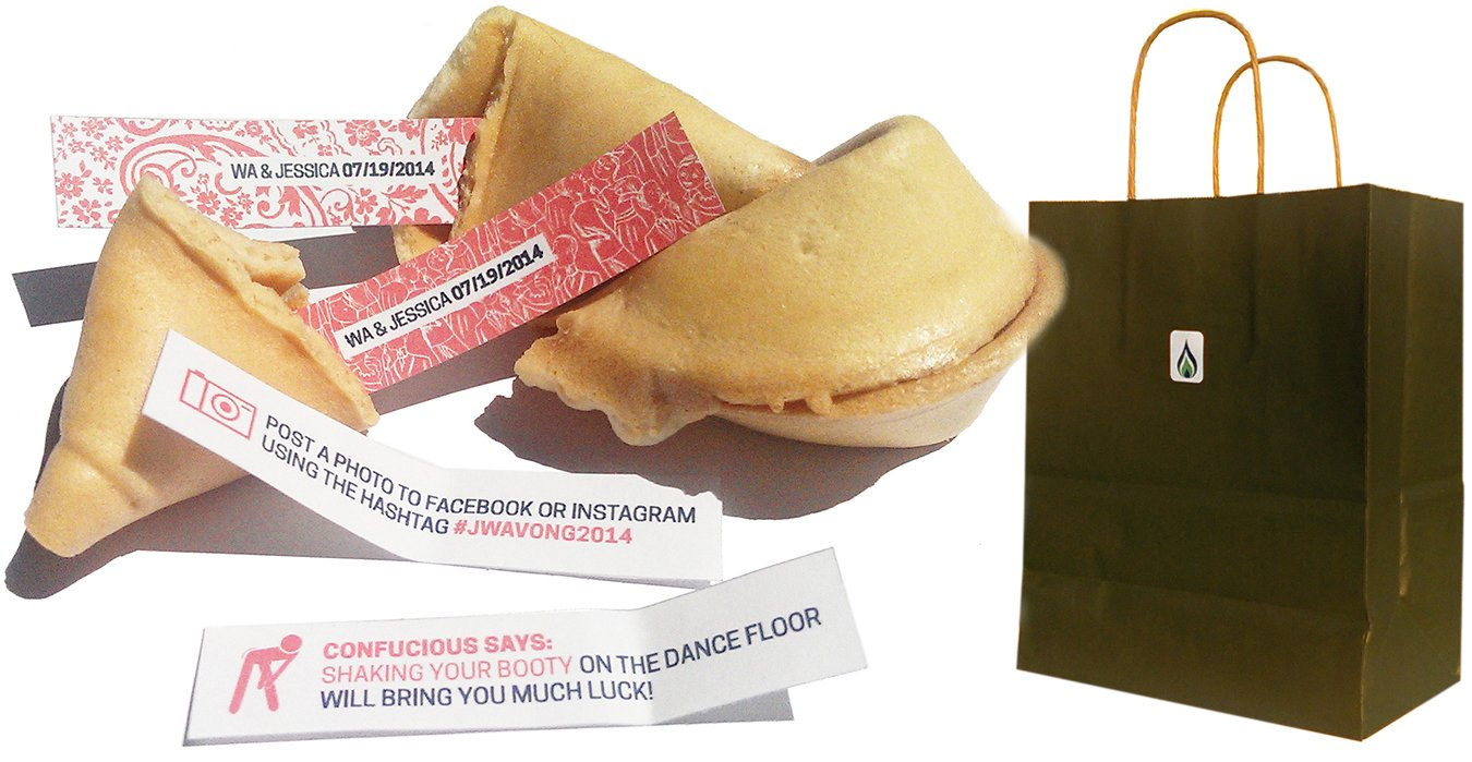 Greenfire Custom Fortune Cookies, Gourmet Vanilla, Bulk Quantity of 60 (Advertising and Promotional)