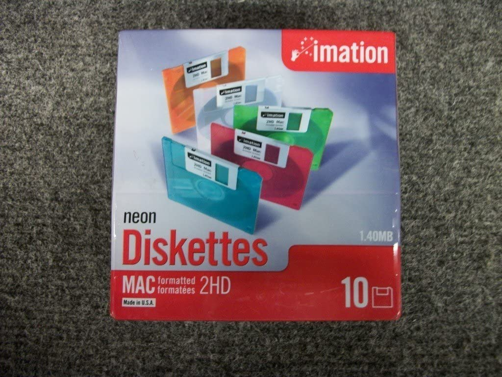 Imation 3.5 DS-HD MAC Formatted Floppy Disks (1 Pack)