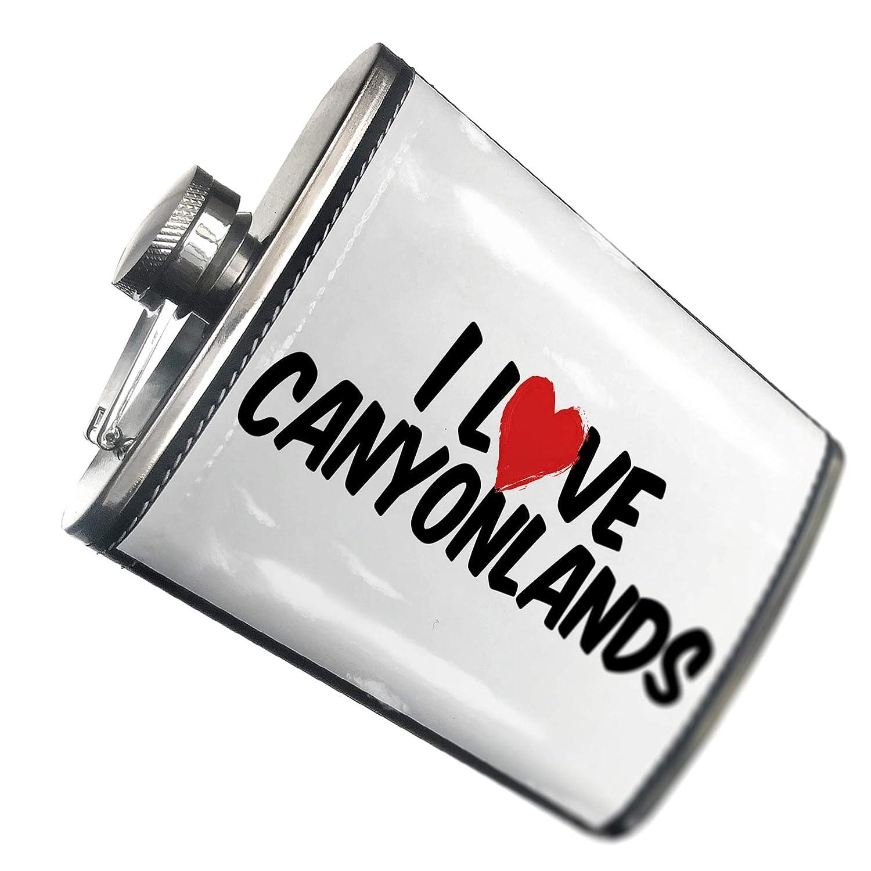 8オンスフラスコステッチI Love Canyonlandsステンレススチール – Neonblond   B00QQVEISM