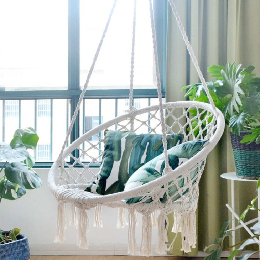 Sonyabecca Hammock Chair Macrame Swing 265 Pound