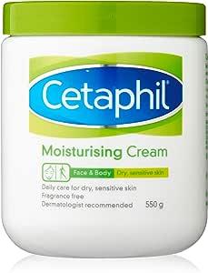 Cetaphil Moisturising Cream for Dry/Sensitive Skin, 550g