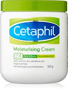 Cetaphil Moisturising Cream for Dry/Sensitive Skin, 550g