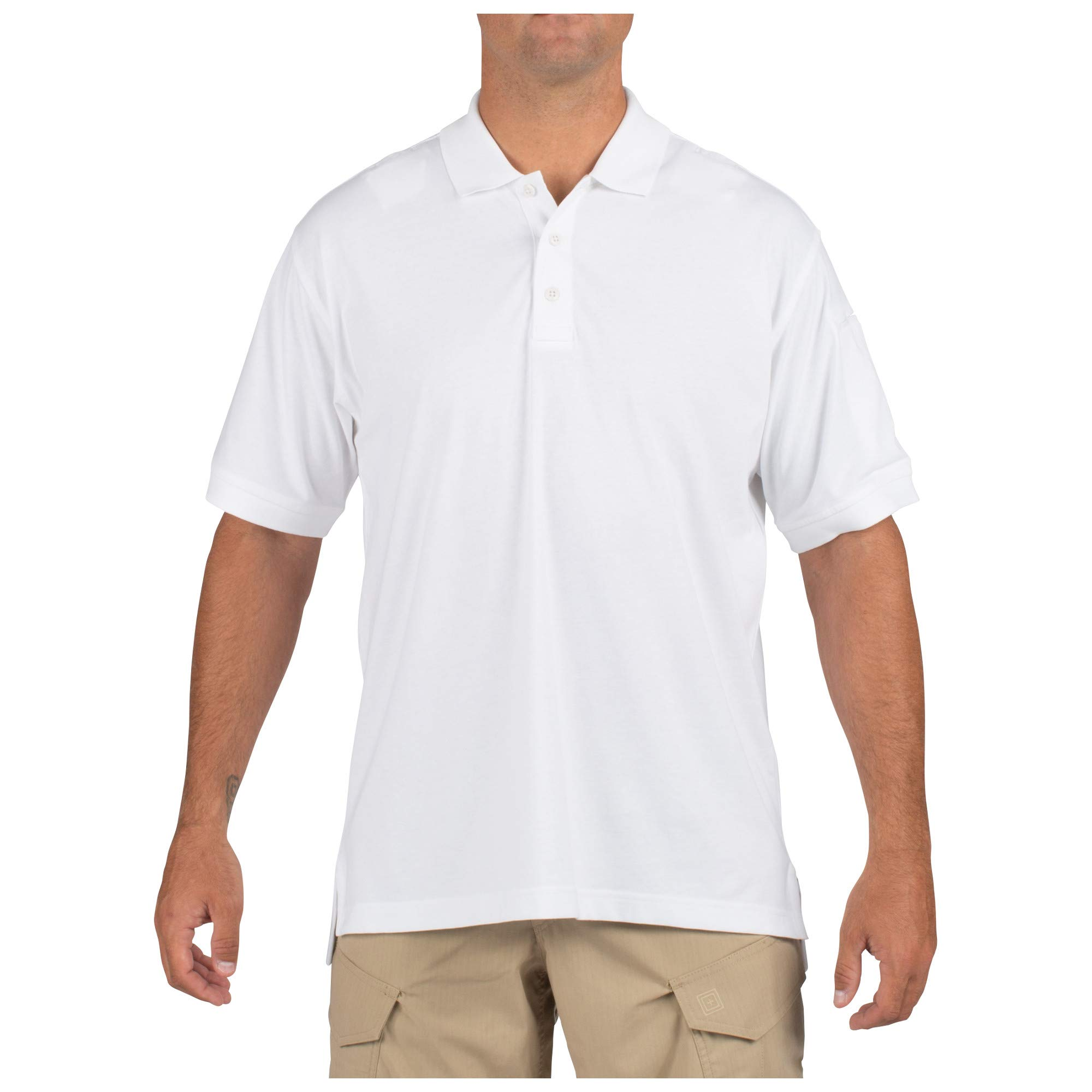 5.11 Tactical Tactical Short-Sleeve Polo,White,Large, White, Large