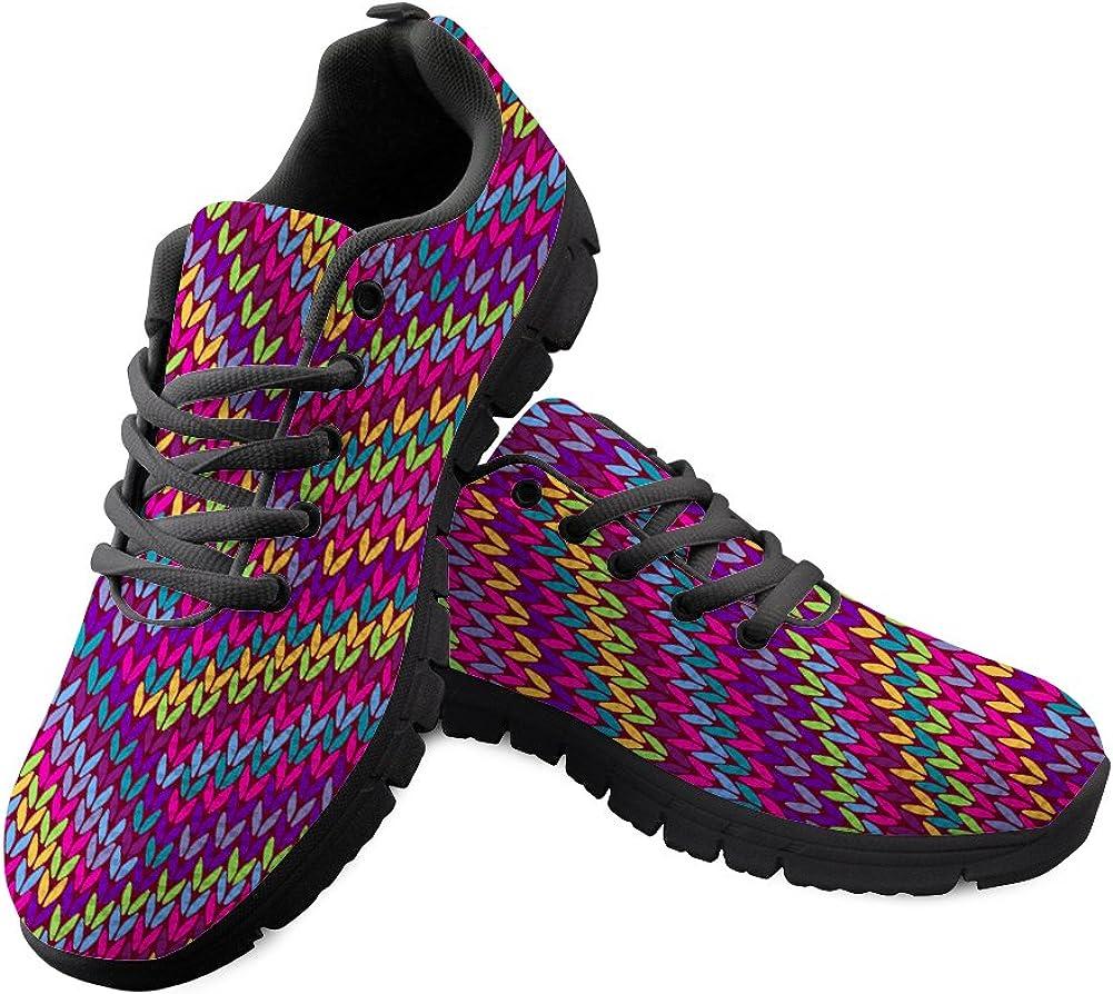 Zapatillas de Deporte para Hombre y Mujer, diseño de Estampado de Arco Iris, Zapatillas de Deporte para Caminar por la Calle, con Cordones: Amazon.es: Zapatos y complementos