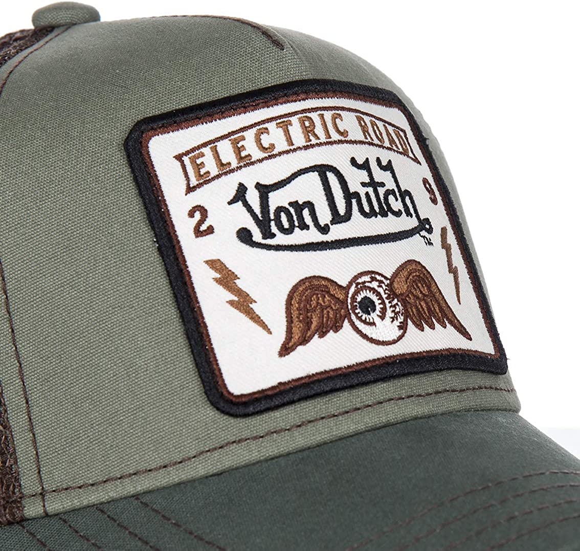 Von Dutch - Gorra Square6B - 181013 SQUARE6B - Verde, U, One Size ...