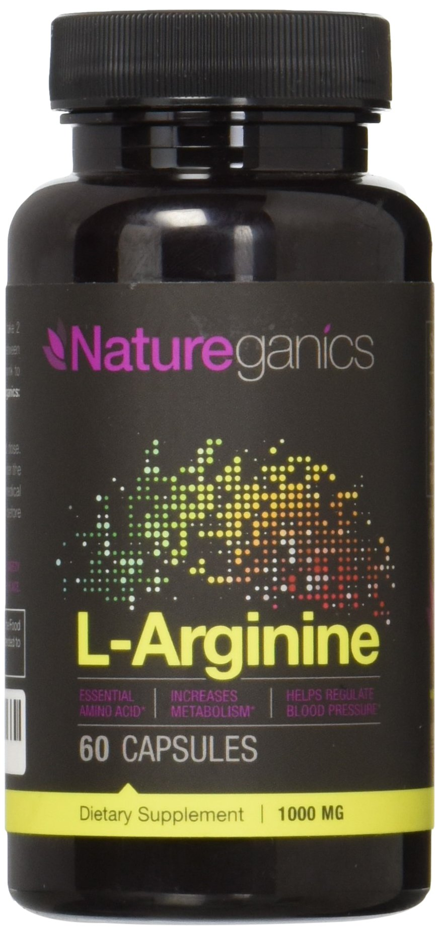 Natureganics L-Arginine 1000mg Premium Amino Acid Formula, 60 Capsules