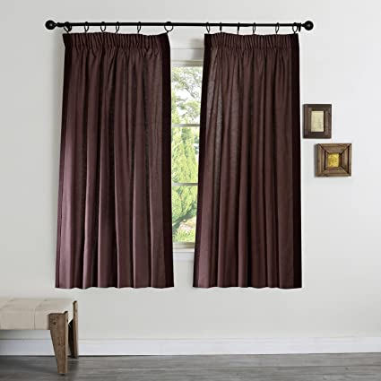 Deco Window Gaurika Polyester Door Curtain - 7.5 ft, Chocolate Curtains at amazon