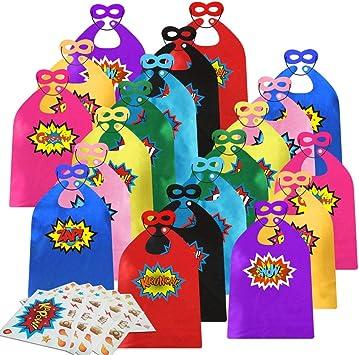 Amazon.com: Capas y máscaras de superhéroe para niños con ...