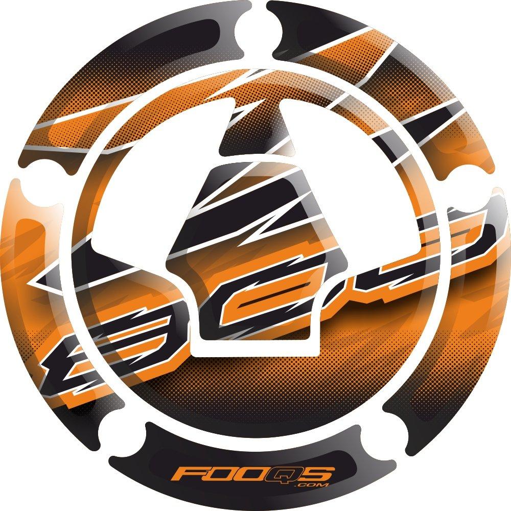 Moto R/éservoir De Carburant 3 d 3d Gel Decal Gas Cap Pad Tankpad Tank pad Capp/é Cap-pad Cappad Couverture Autocollant R/éservoir Pad R/éservoir-pad pour Kawasaki Z800 Z 800 Orange