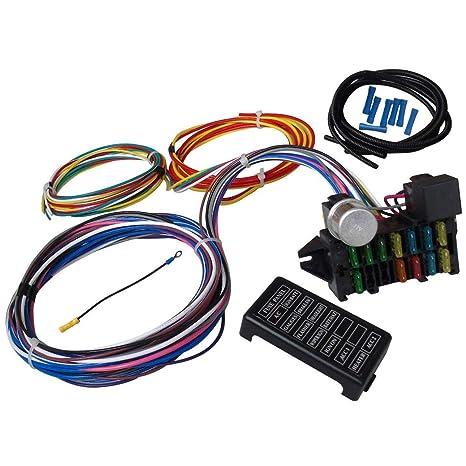 Arnés de cableado Universal de 12 circuitos para el automóvil Muscle Hot Rod Street Rod XL