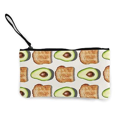 Canvas Coin Purse Avocado Zipper Wallet Bag Change Purse Pouch Key Purse Pouch