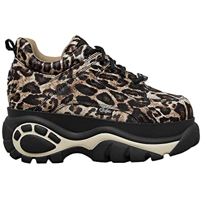 the latest 7778b 5fe8d Buffalo London 1337-14 Damen Leopard Sneakers: Amazon.de ...