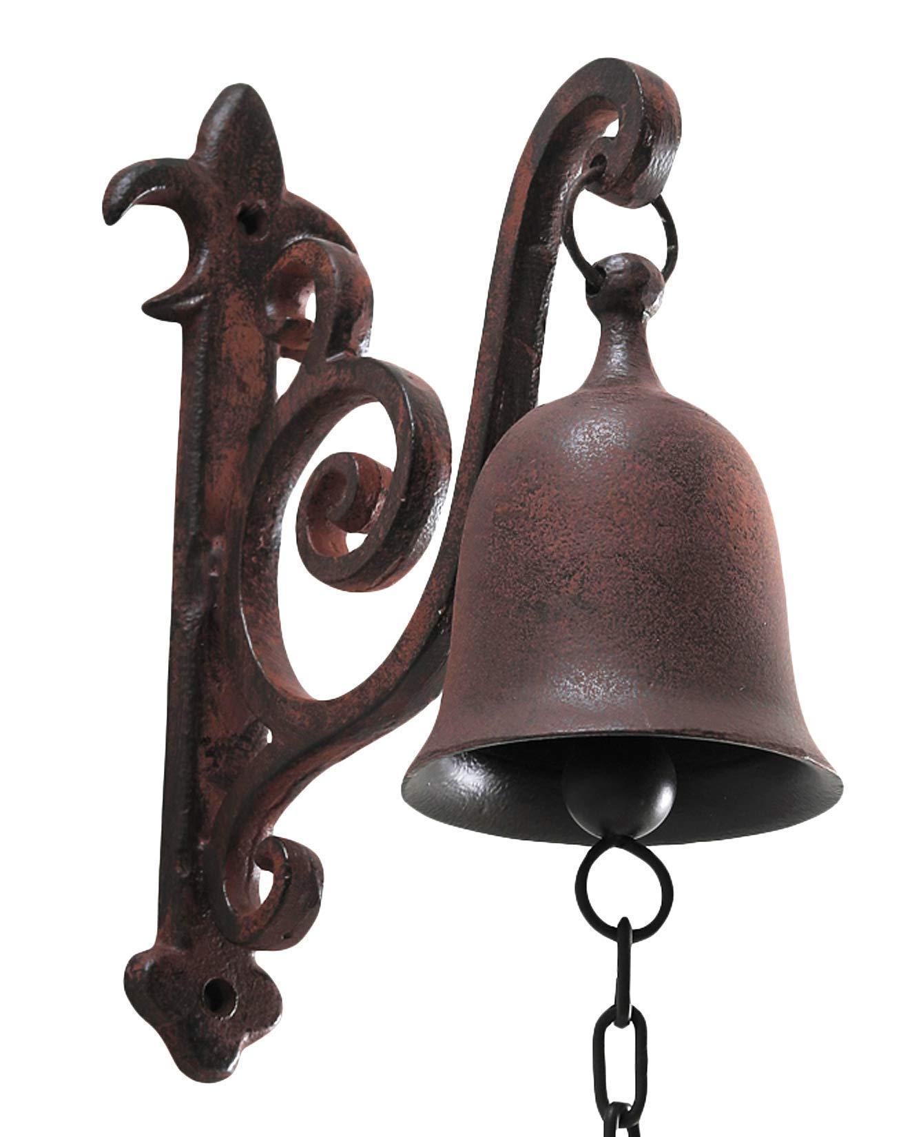 DECONOOR Vintage Cast Iron Rustic Dinner Bell by DECONOOR