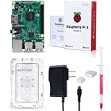 Noza Tec 1 Raspberry PI 3 Starter Kit with Case, Power Supply, Heatsink, HDMI Cable SD Card, 32 GB