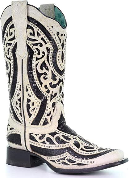 | CORRAL Women's White and Inlay Embroidered