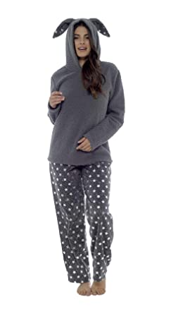Women s Cat   Bunny Snuggle Fleece Pyjamas 5f4d06b12