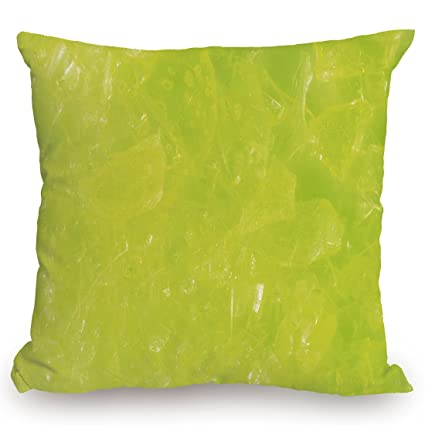 Amazon Throw Pillow Cushion CoverLime GreenGrunge Hazy Color Impressive Apple Green Decorative Pillows