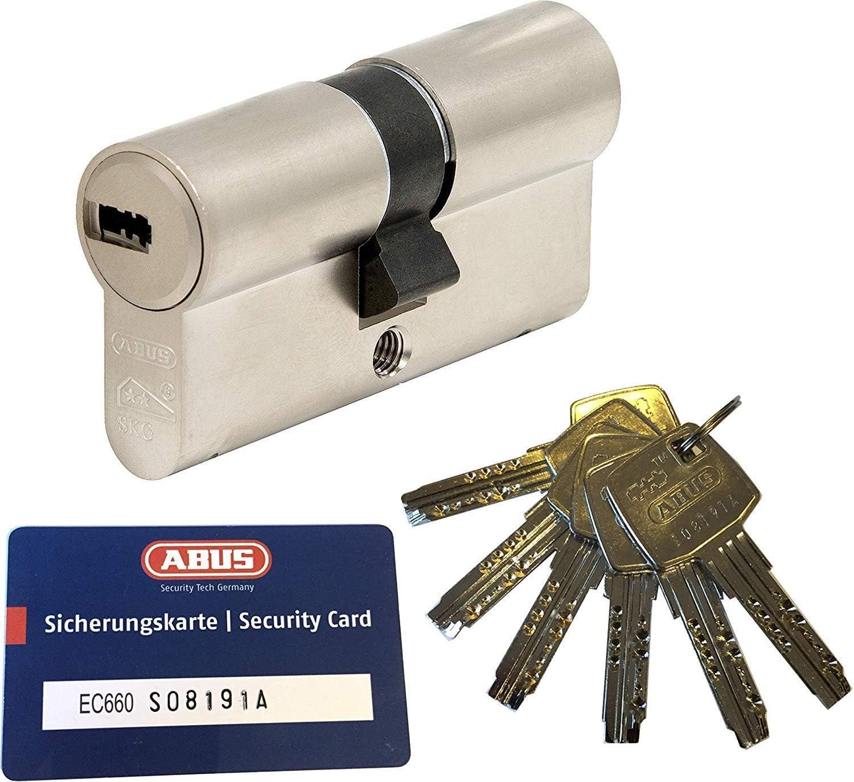 carte di credito con fusibile con 6 chiavi a//B C=80mm 30//50 mm ABUS EC660 cheerio-cilindro Lunghezza