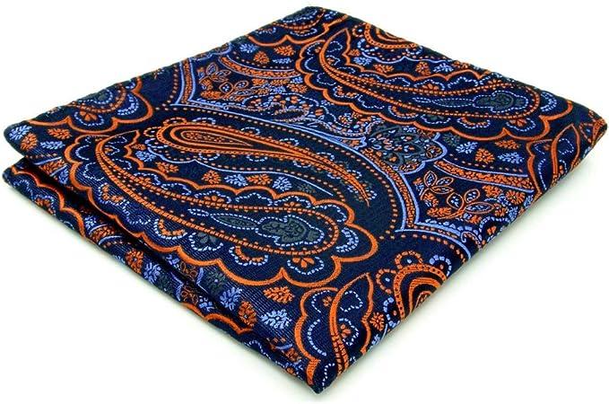 Shlax/&Wing /único Hombre Seda Pa/ñuelo De Bolsillo Para Azul Geom/étrico 12.6