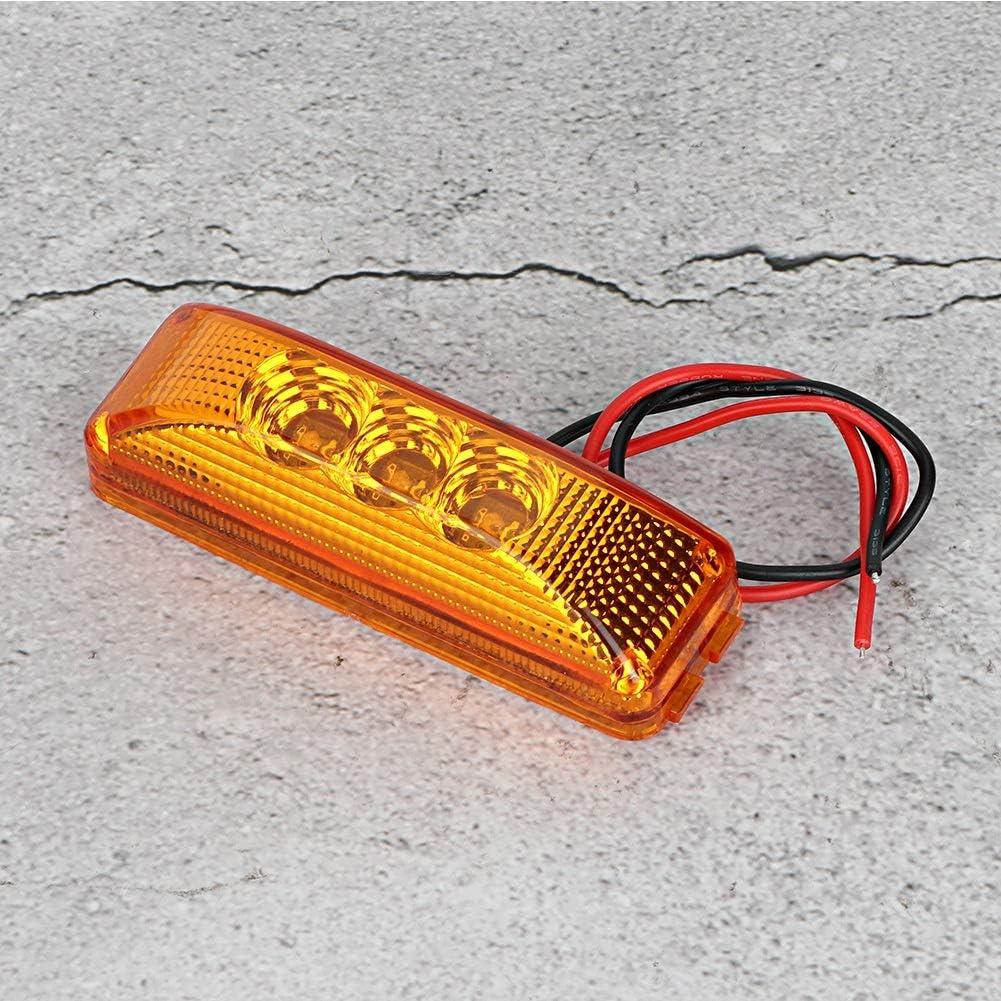 2 piezas 3 LED Luz de se/ñal lateral de la luz del coche Destacado para cami/ón Yctze L/ámpara de se/ñal LED de cami/ón Amarillo