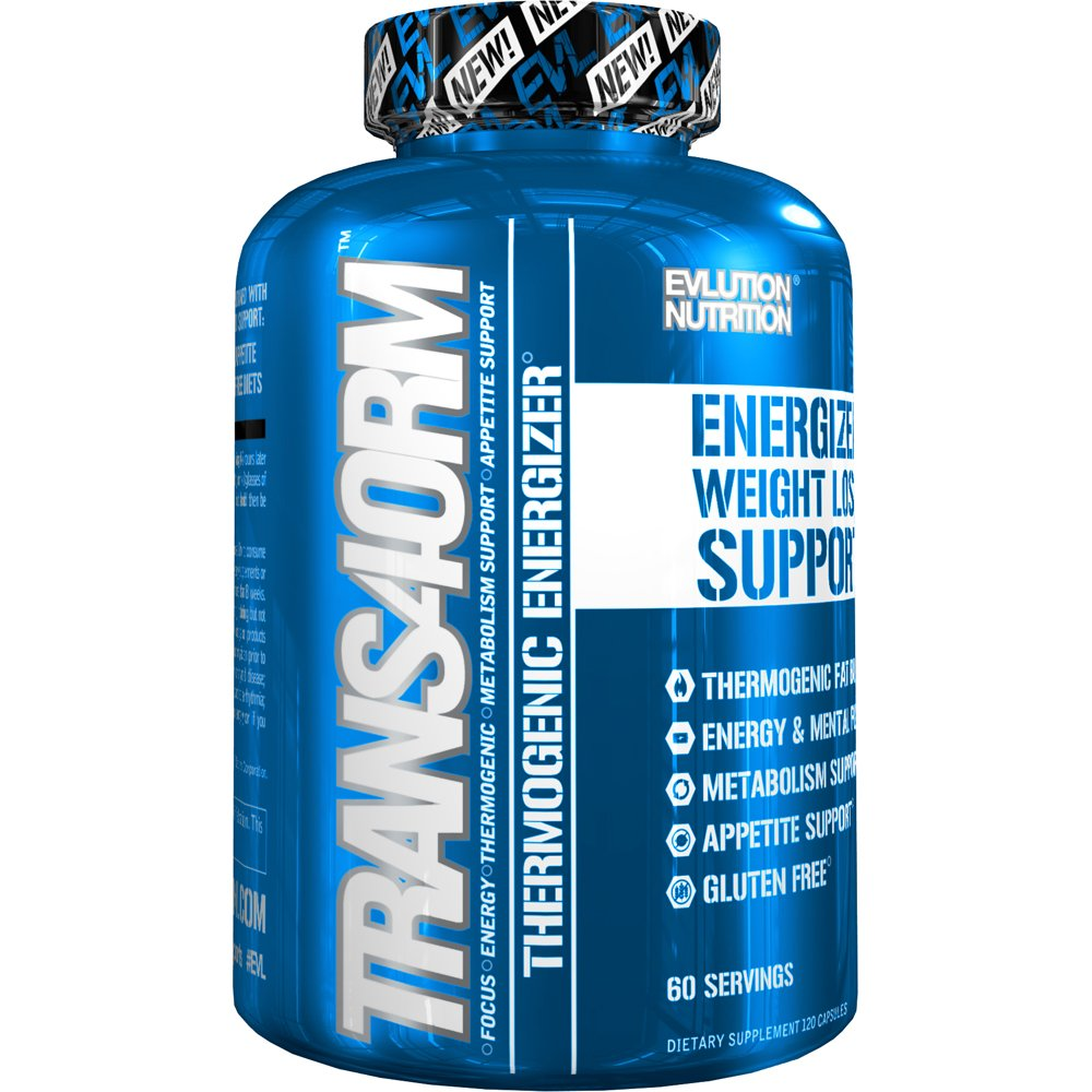 Evlution Nutrition Trans4orm Thermogenic Energizing Fat Burner Supplement, Increase Weight Loss, Energy and Intense Focus (60 Servings) by Evlution
