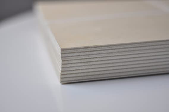 Ideal para Pirograbado Chely Intermarket,tablero contrachapado 3mm Manualidades Corte por Laser 1 Unds CNC Router Madera Maciza Abedul para Bricolaje A3-29,7 x 42 cm