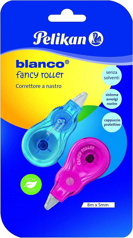Nuova formulazione della pellicola con estrema resistenza blister 2 bianchetti Pelikan 340455 Correttore a nastro Mini Roller 4,2mm x 6mt