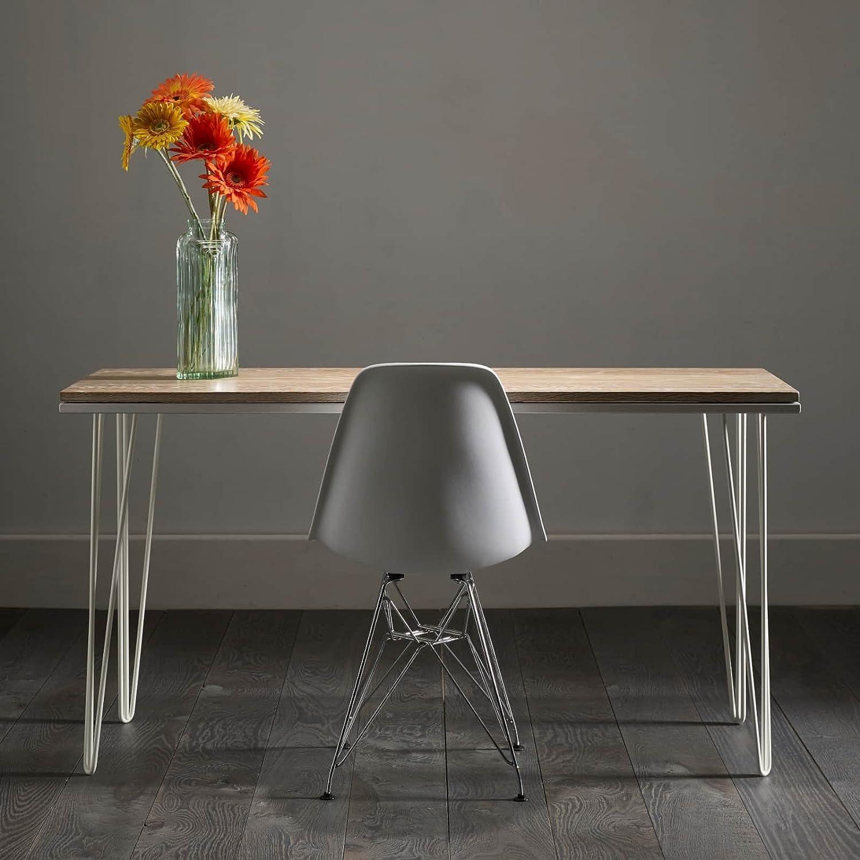 HENGMEI 4x41cm Two-rod de Table de en Epingle /à Cheveux en Fer Pied meubles de table en m/étal Dragonne Remplacement Pieds de table Noir