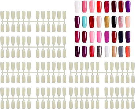 Image of720 piezas de puntas falsas, Segbeauty Nail Flaves Artificial de fondo plano para las uñas Exhibición Libro Polaco Gel Color Carro Manicura Salón Arte Decoración
